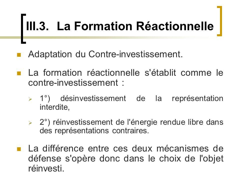 III.3. La Formation Réactionnelle