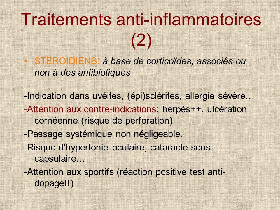 Traitements anti-inflammatoires (2)