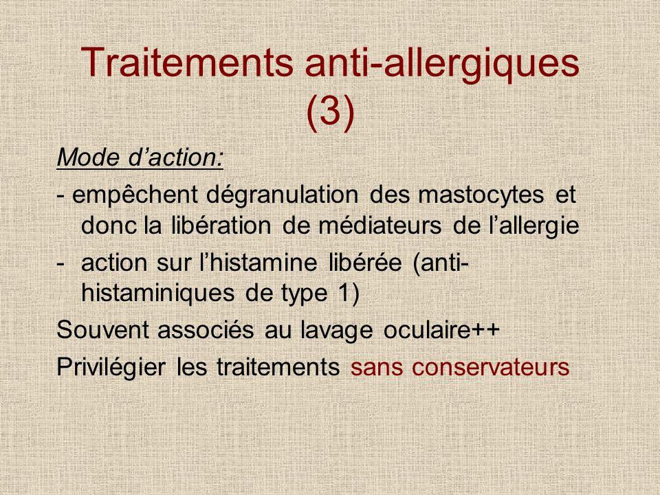 Traitements anti-allergiques (3)