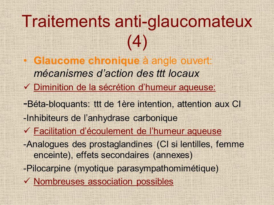 Traitements anti-glaucomateux (4)