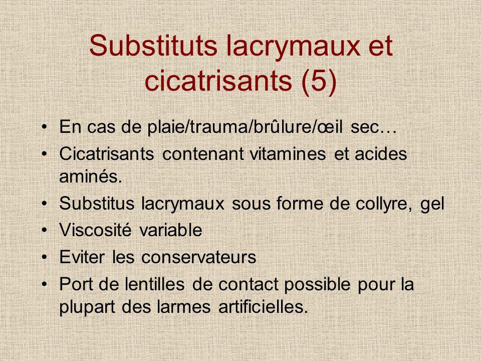 Substituts lacrymaux et cicatrisants (5)