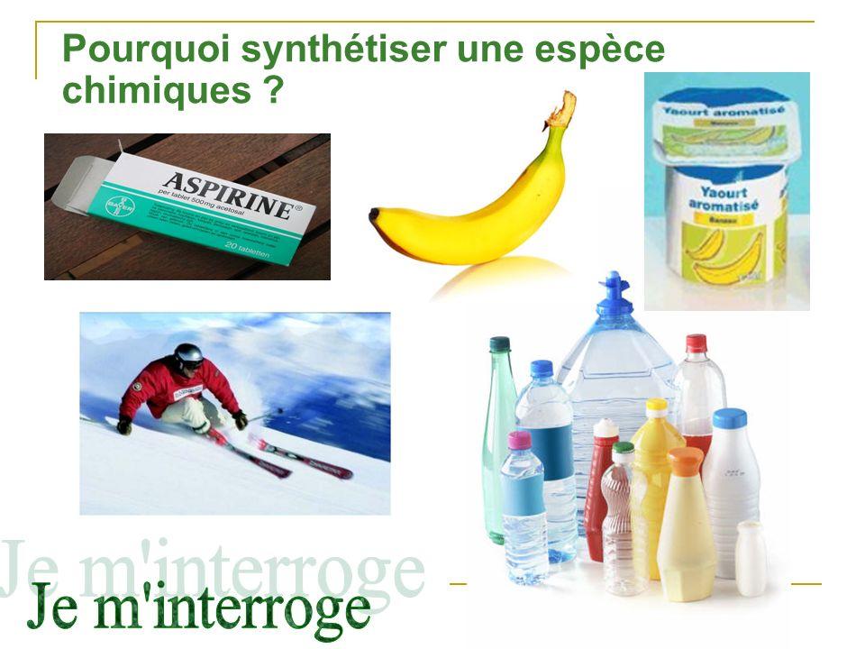 Pourquoi synthétiser une espèce chimiques