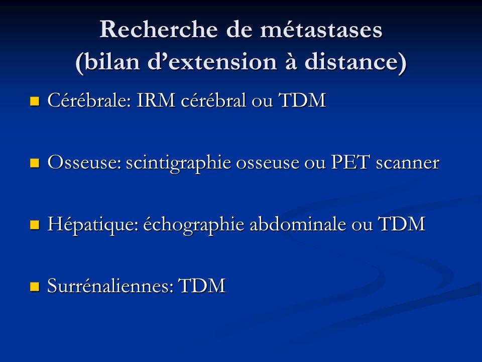 Recherche de métastases (bilan d'extension à distance)