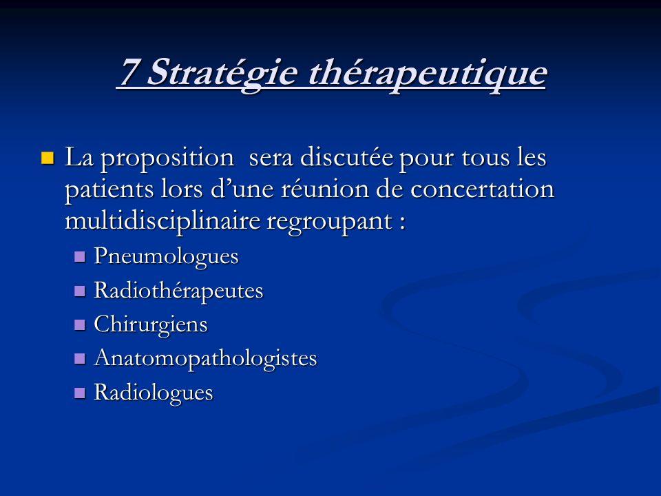 7 Stratégie thérapeutique