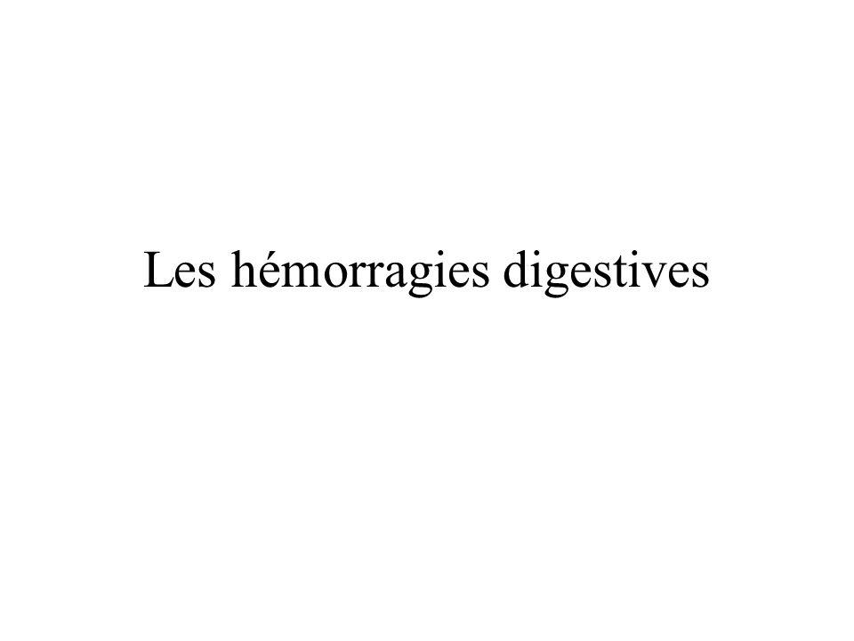 Les hémorragies digestives