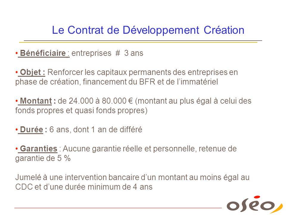 Le Contrat de Développement Création