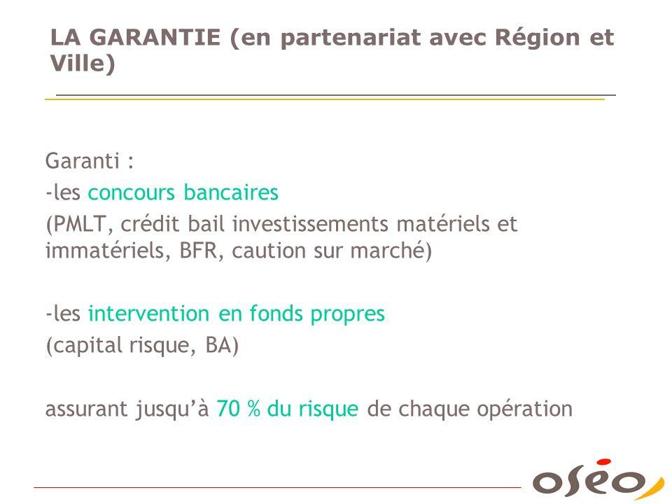 LA GARANTIE (en partenariat avec Région et Ville)