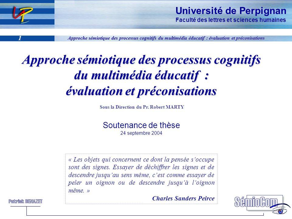 Approche sémiotique des processus cognitifs du multimédia éducatif : évaluation et préconisations
