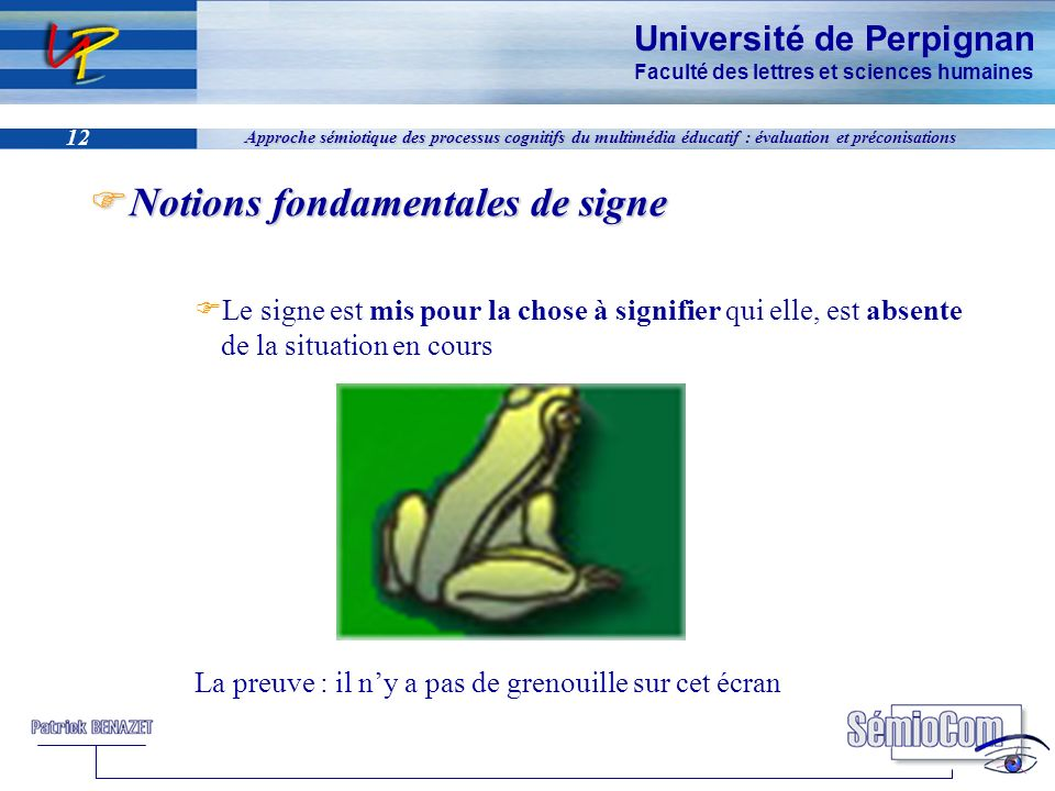 Notions fondamentales de signe