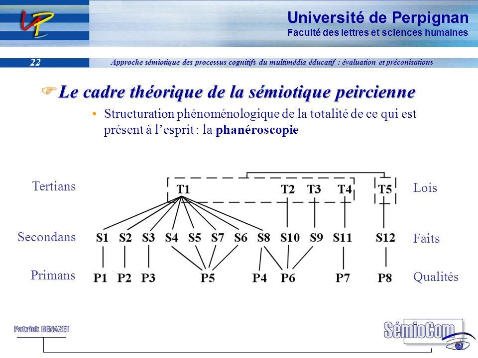 Le cadre théorique de la sémiotique peircienne