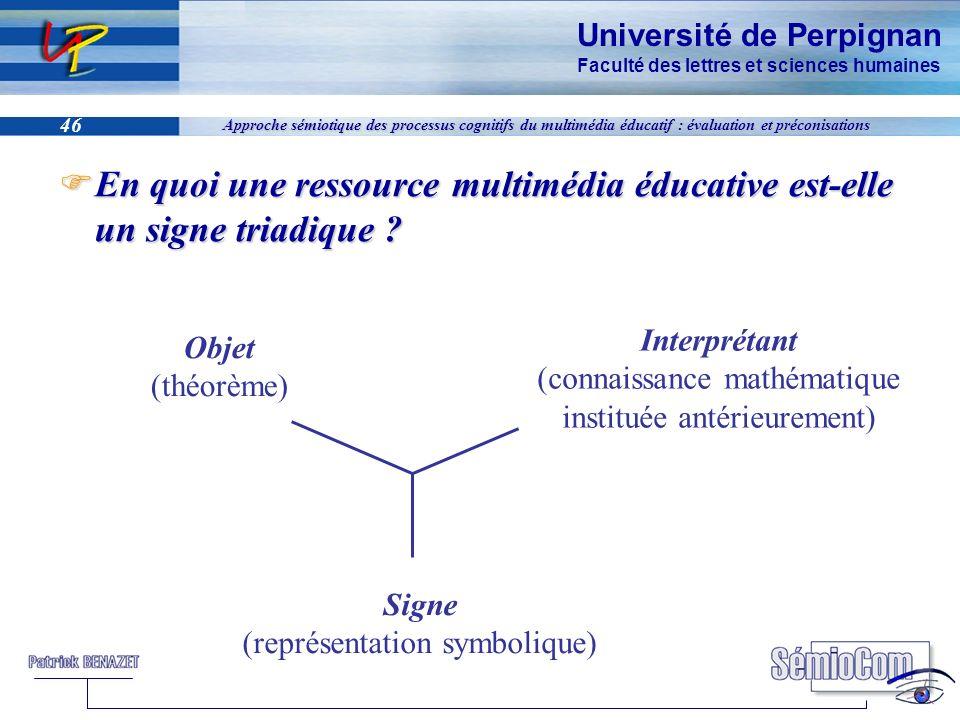 En quoi une ressource multimédia éducative est-elle un signe triadique