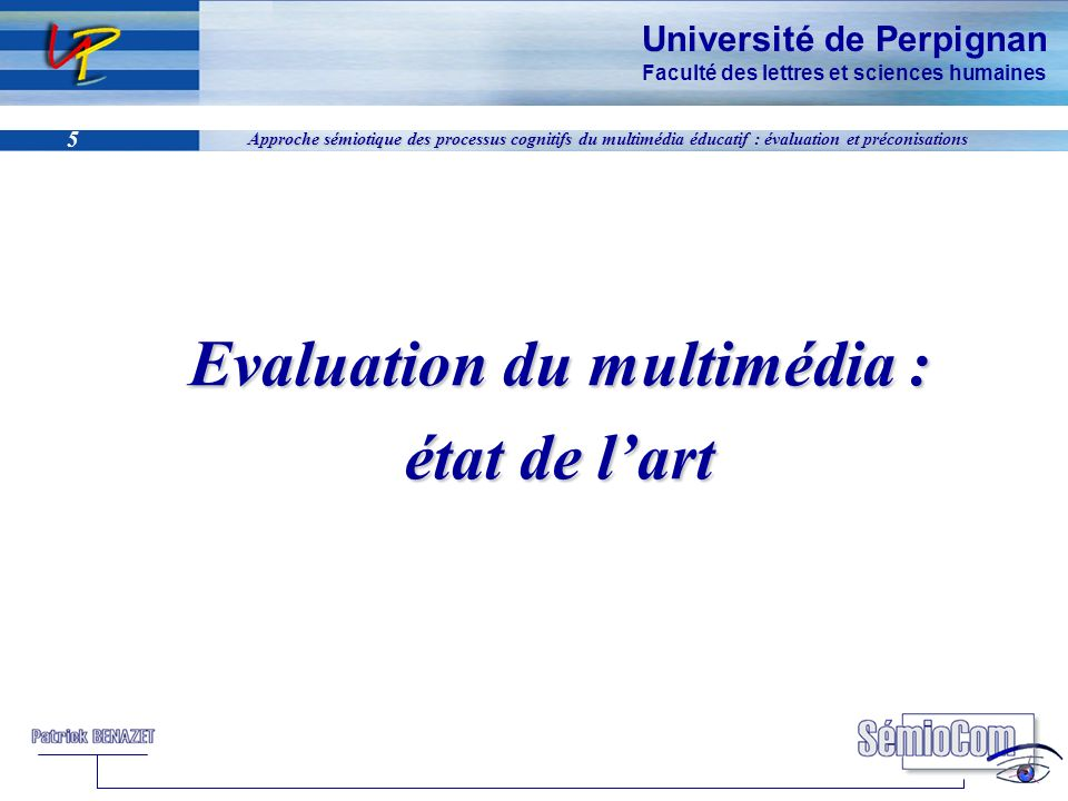 Evaluation du multimédia :