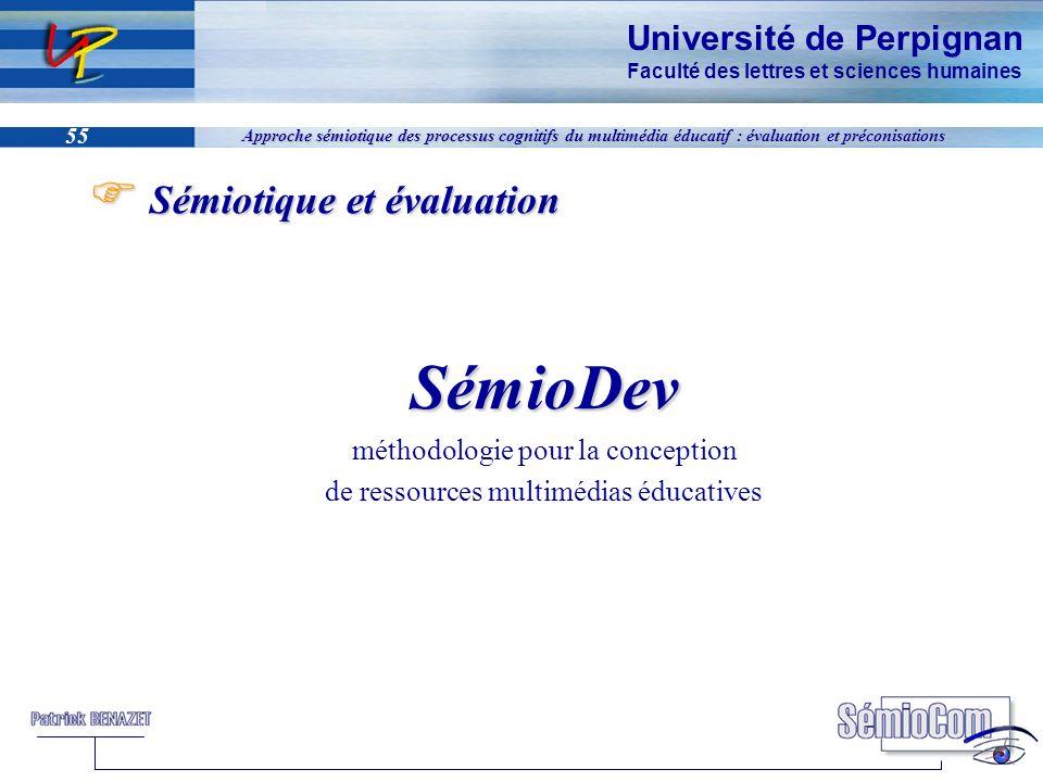 SémioDev Sémiotique et évaluation méthodologie pour la conception
