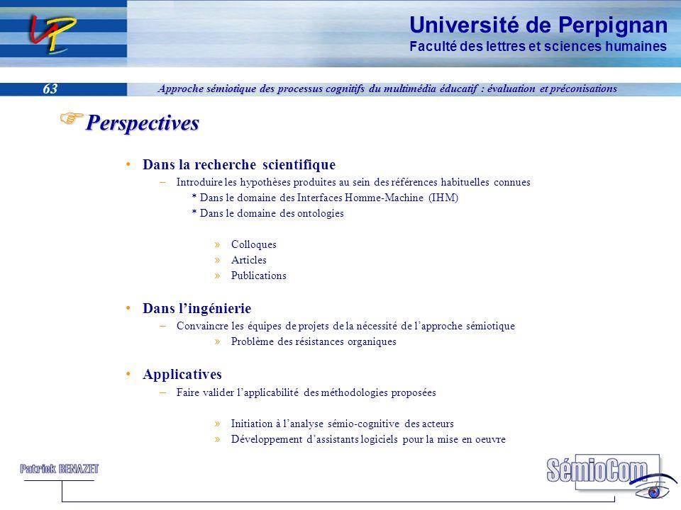 Perspectives Dans la recherche scientifique Dans l'ingénierie