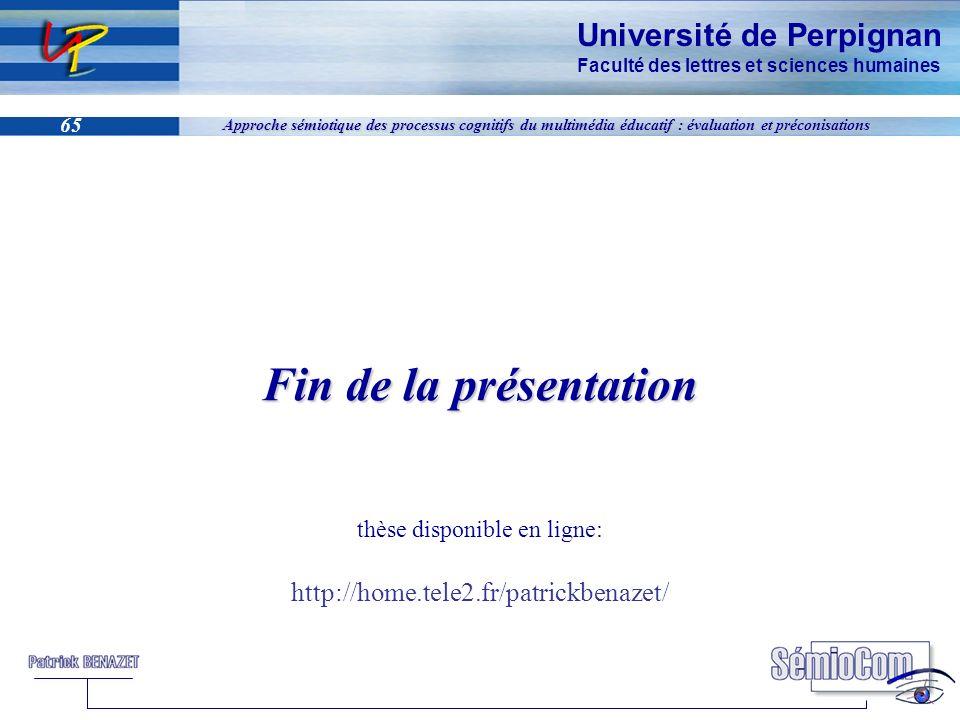 Fin de la présentation thèse disponible en ligne: http://home. tele2