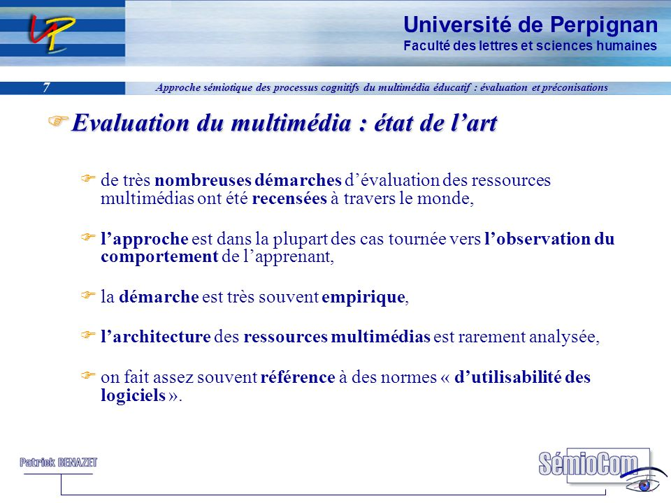 Evaluation du multimédia : état de l'art