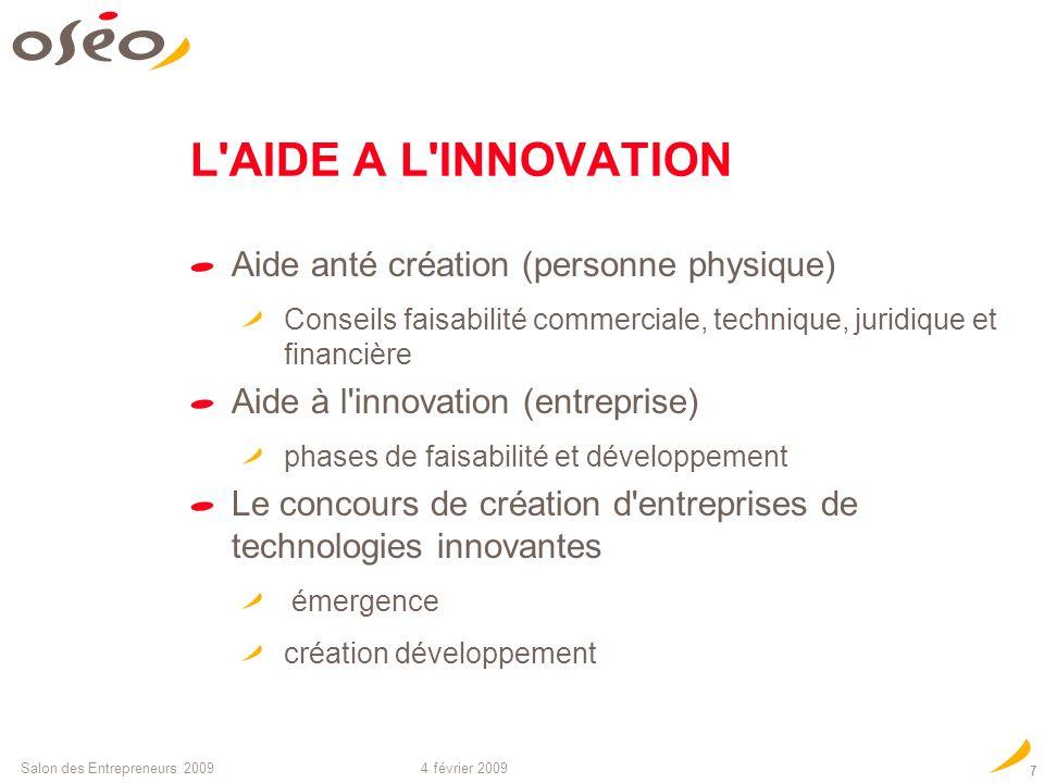 Cr ation d 39 entreprise innovante aides pr ts garanties ppt video online t l charger - Salon creation d entreprise ...