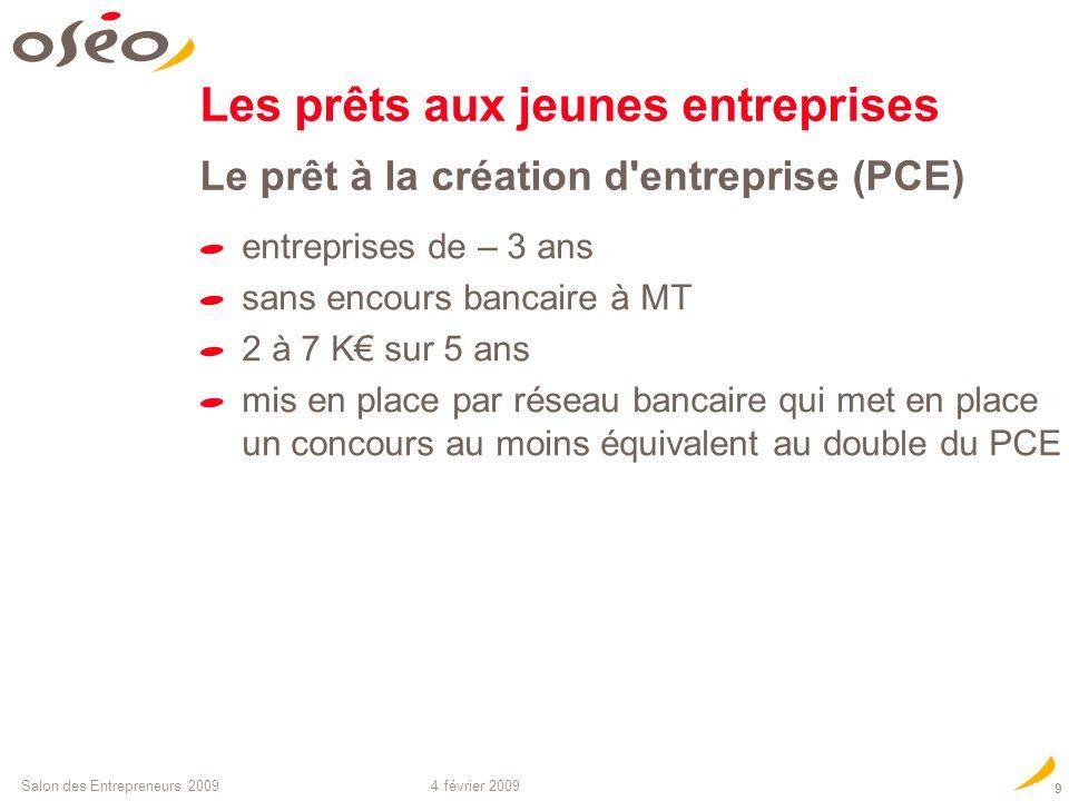 Les prêts aux jeunes entreprises Le prêt à la création d entreprise (PCE)