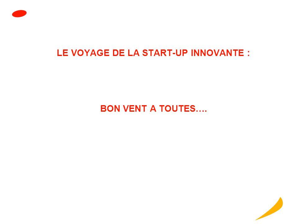 LE VOYAGE DE LA START-UP INNOVANTE : BON VENT A TOUTES….