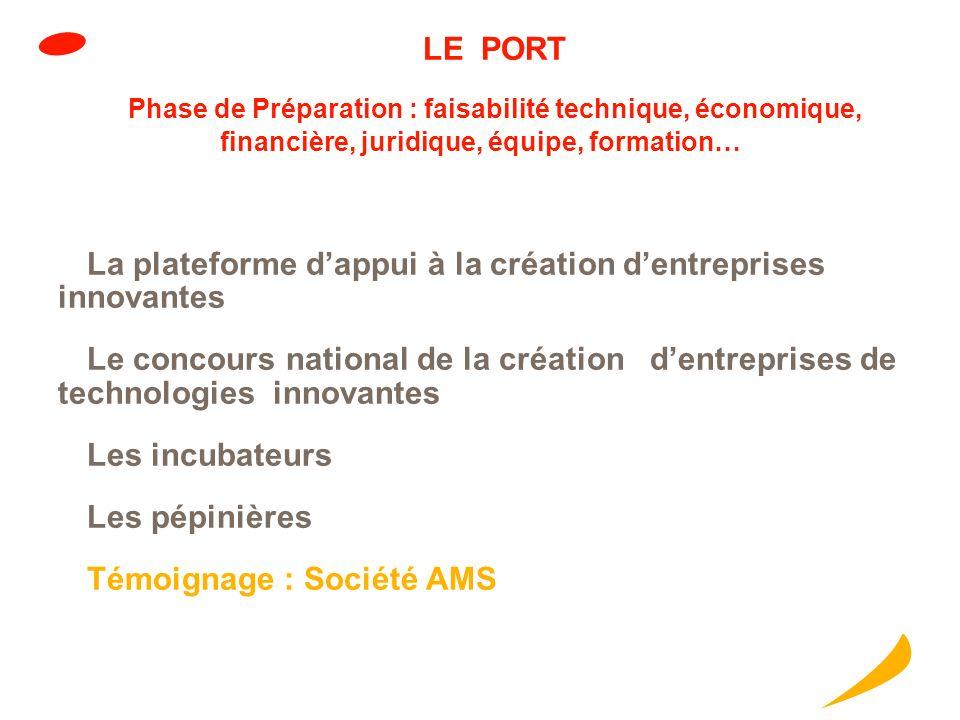 La plateforme d'appui à la création d'entreprises innovantes
