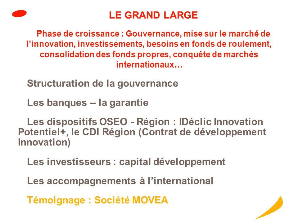 Structuration de la gouvernance Les banques – la garantie