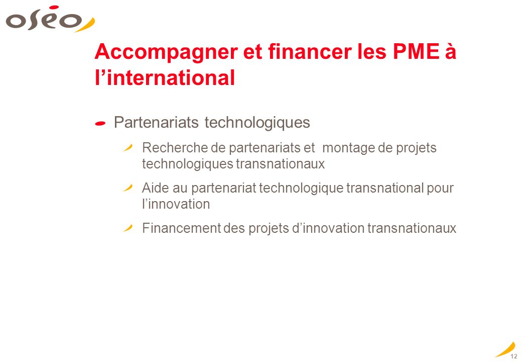 Accompagner et financer les PME à l'international