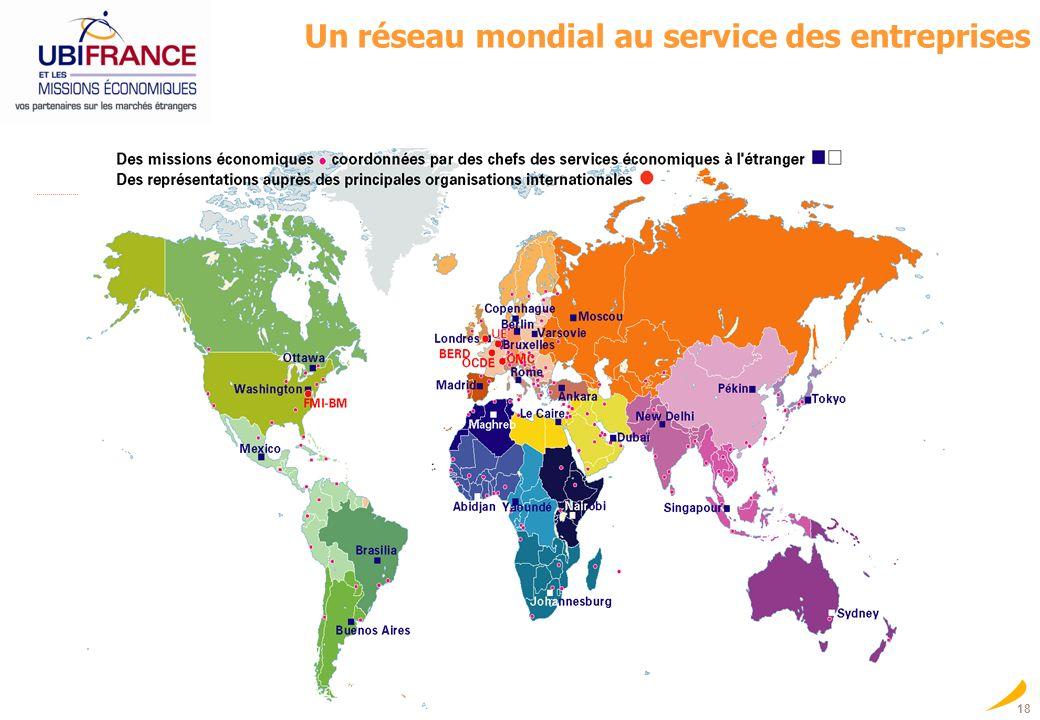 Un réseau mondial au service des entreprises