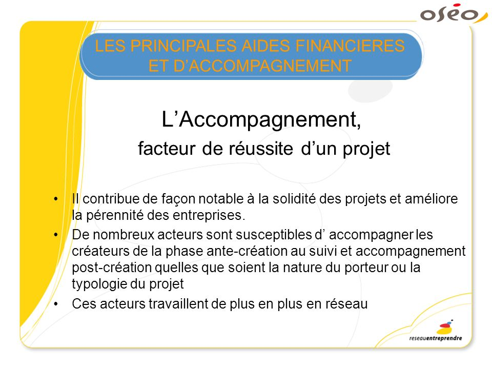 L'Accompagnement, facteur de réussite d'un projet