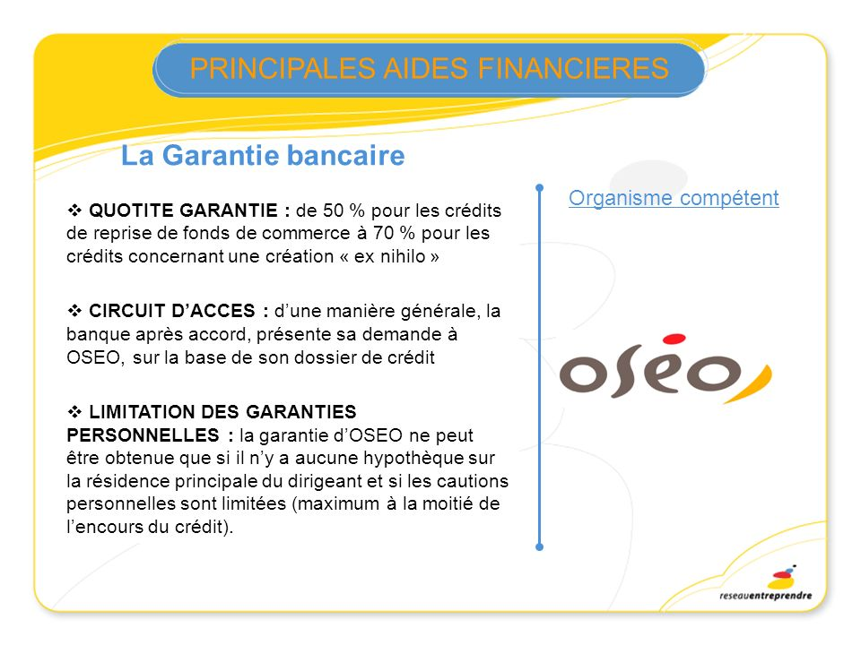 FONDS DE GARANTIE….suite
