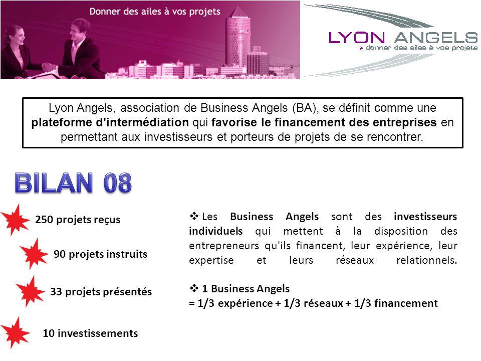 Lyon Angels, association de Business Angels (BA), se définit comme une plateforme d intermédiation qui favorise le financement des entreprises en permettant aux investisseurs et porteurs de projets de se rencontrer.