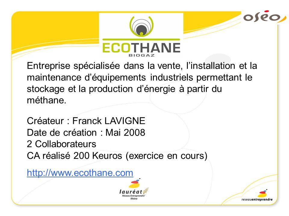 Entreprise spécialisée dans la vente, l'installation et la maintenance d'équipements industriels permettant le stockage et la production d'énergie à partir du méthane.