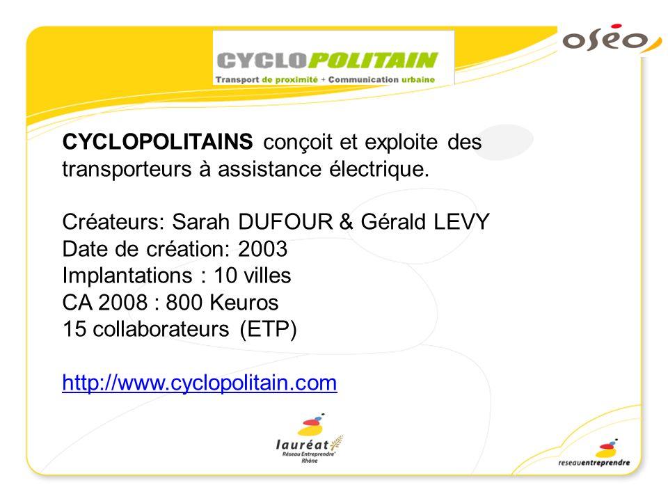 CYCLOPOLITAINS conçoit et exploite des transporteurs à assistance électrique.