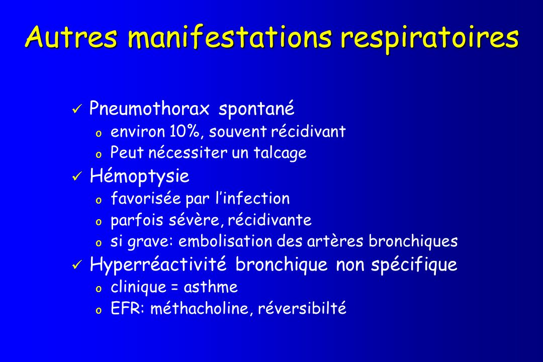 Autres manifestations respiratoires