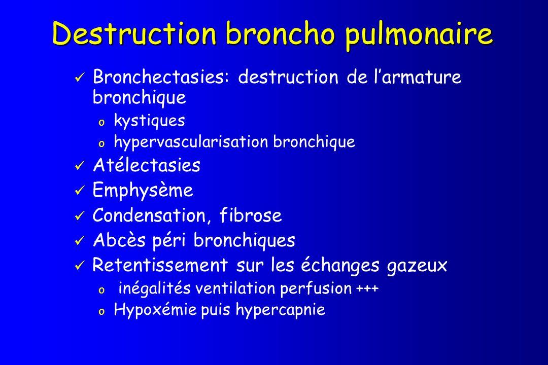Destruction broncho pulmonaire