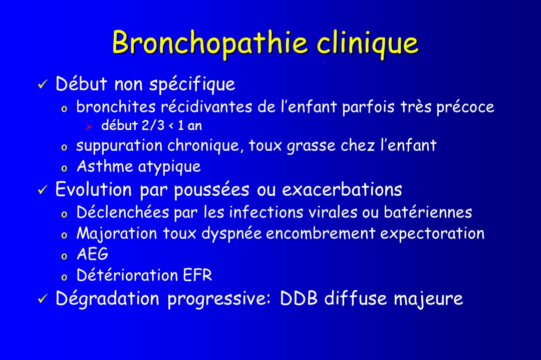 Bronchopathie clinique