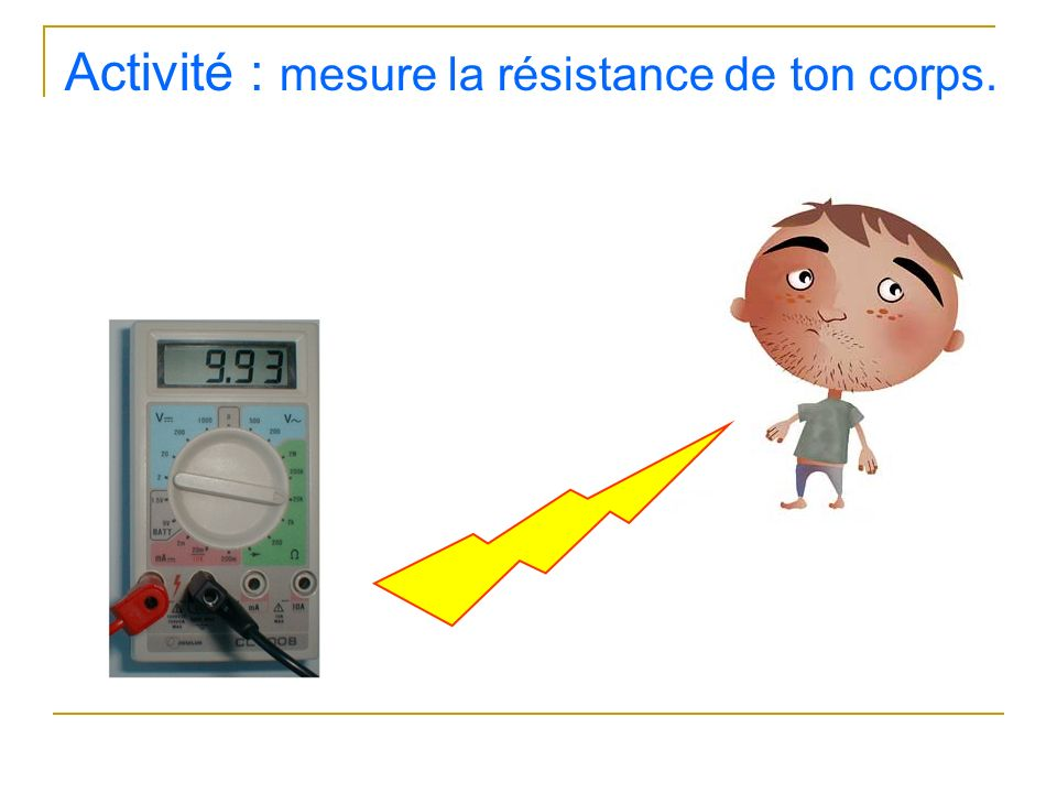 Activité : mesure la résistance de ton corps.