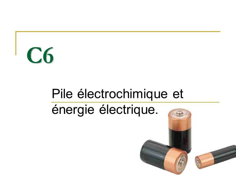 Pile électrochimique et énergie électrique.