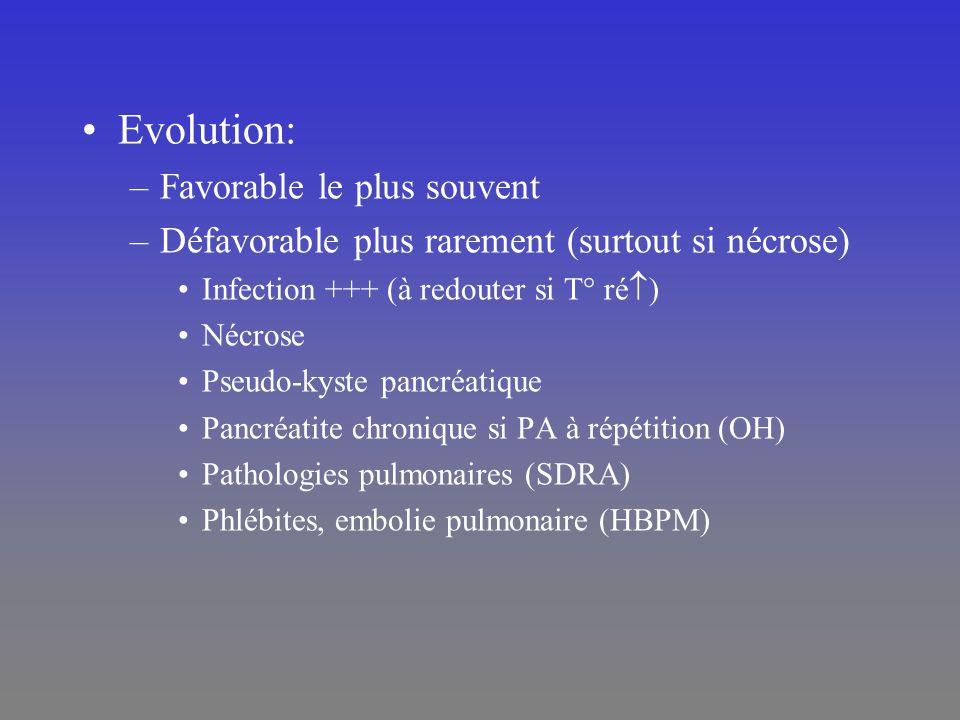 Evolution: Favorable le plus souvent