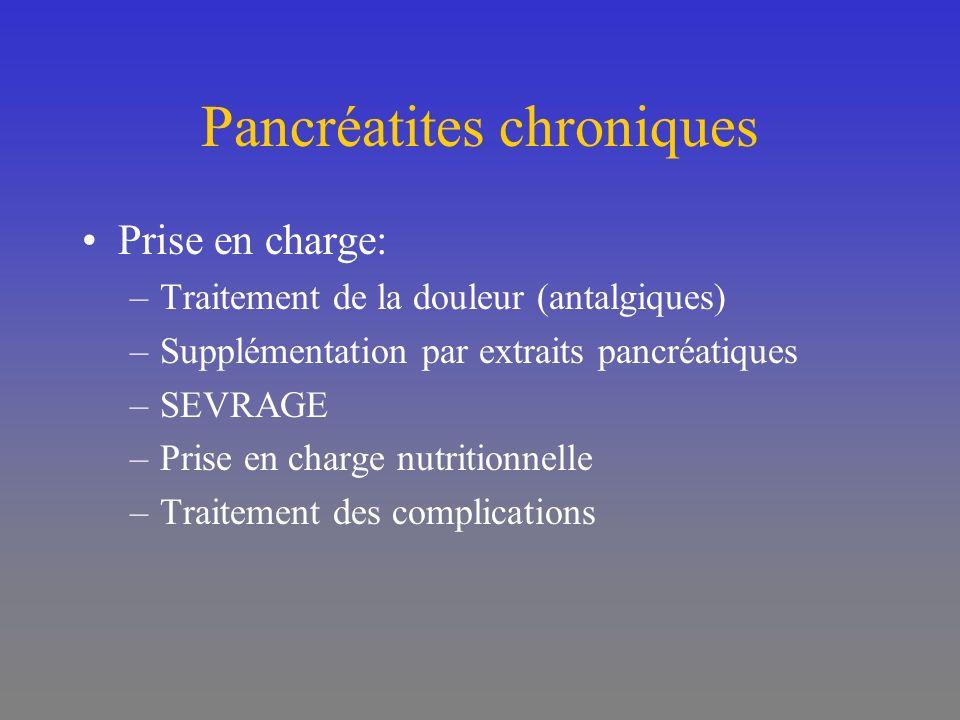 Pancréatites chroniques