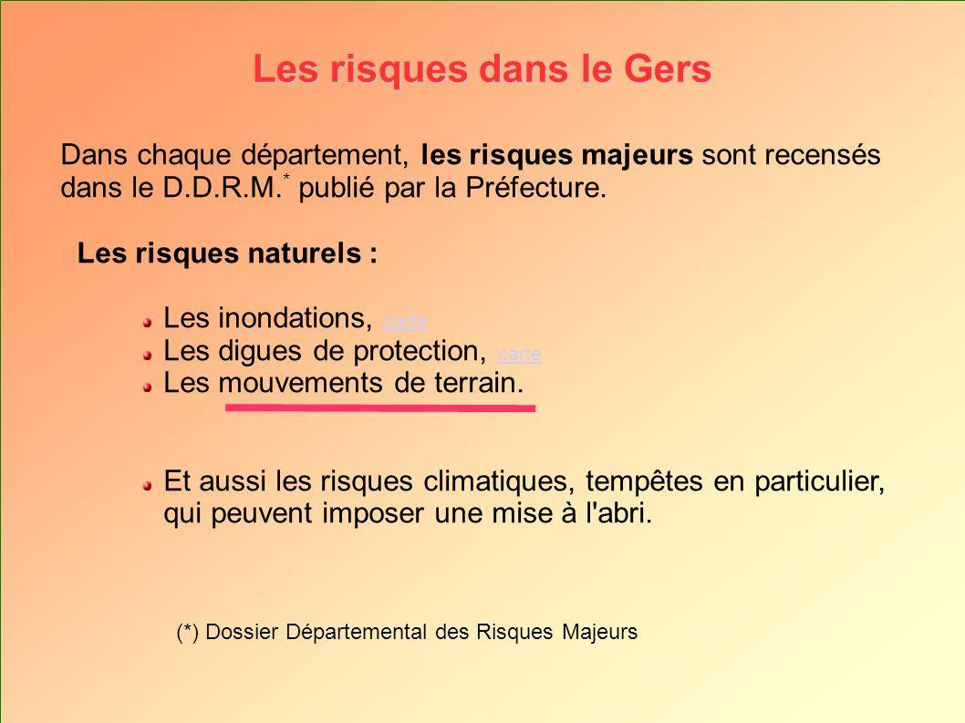 Les risques dans le Gers