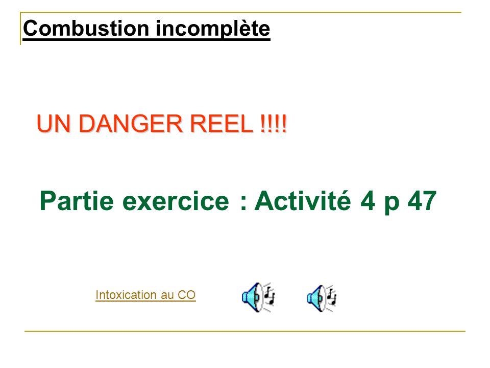 Partie exercice : Activité 4 p 47