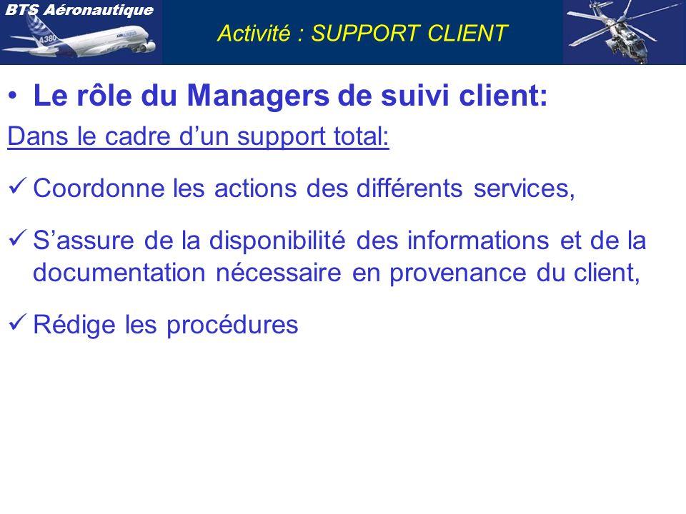 Le rôle du Managers de suivi client: