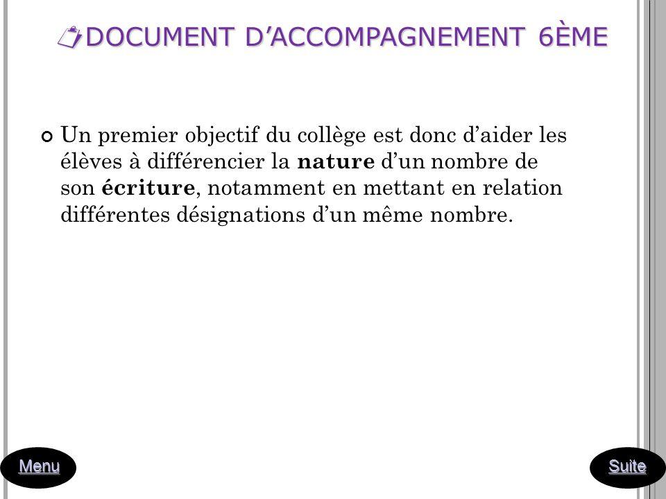 DOCUMENT D'ACCOMPAGNEMENT 6ÈME