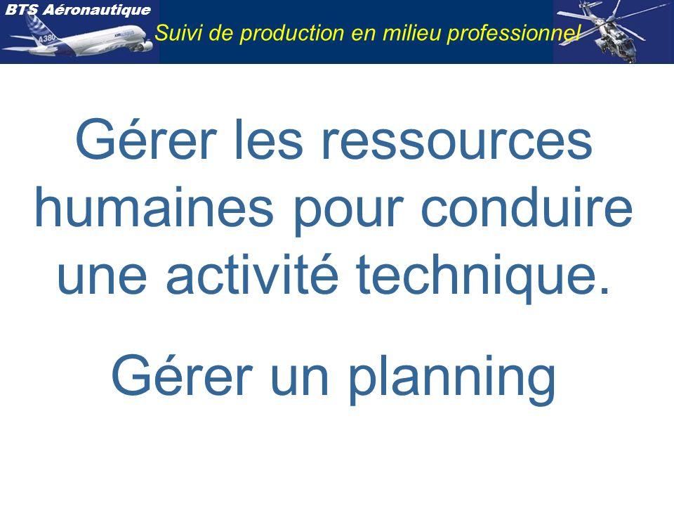 Gérer les ressources humaines pour conduire une activité technique.