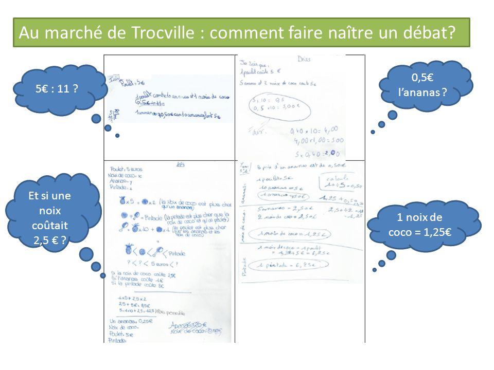 Au marché de Trocville : comment faire naître un débat