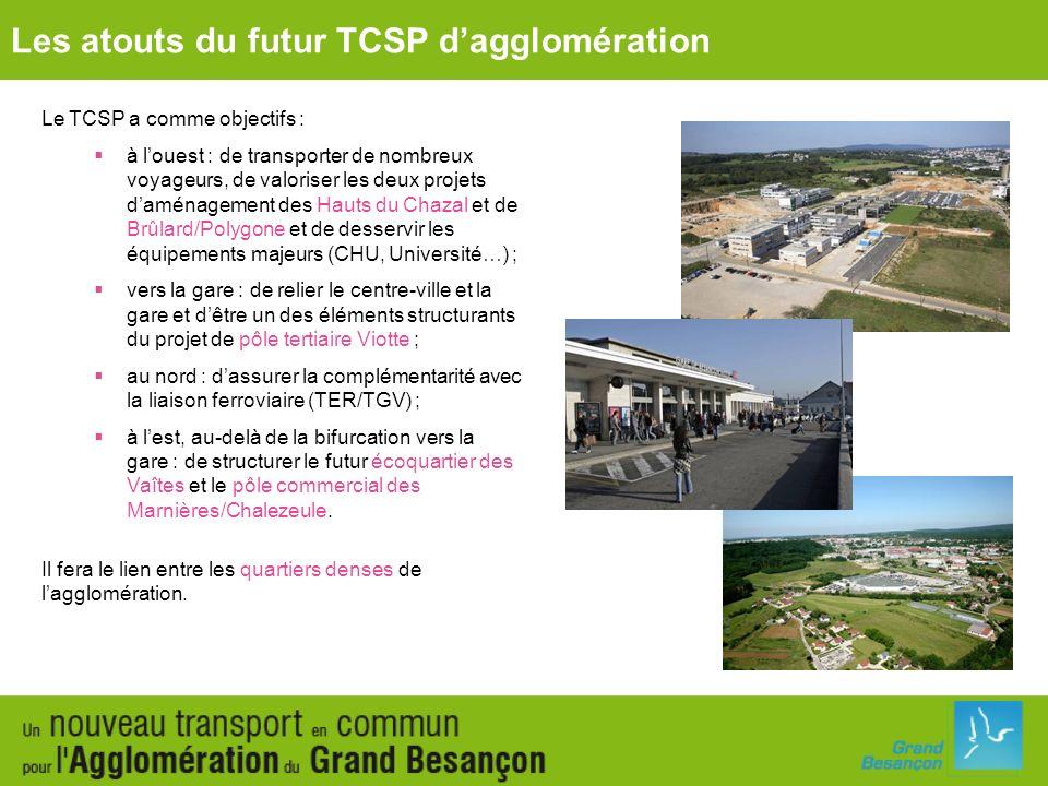 Les atouts du futur TCSP d'agglomération