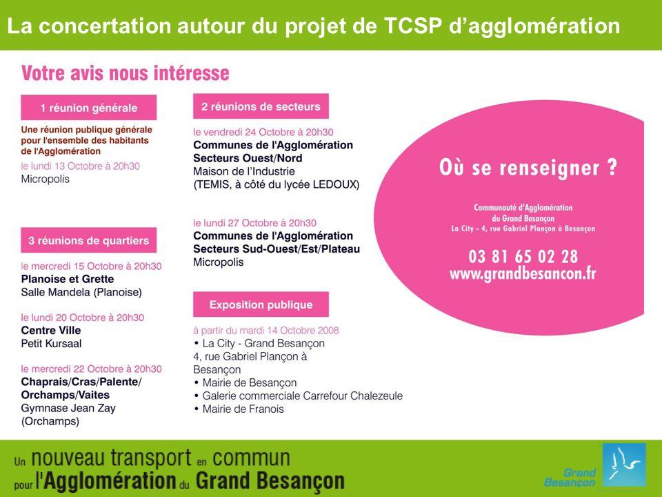 La concertation autour du projet de TCSP d'agglomération