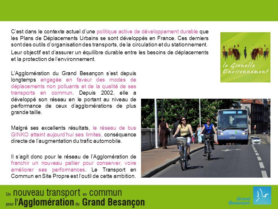 C'est dans le contexte actuel d'une politique active de développement durable que les Plans de Déplacements Urbains se sont développés en France. Ces derniers sont des outils d'organisation des transports, de la circulation et du stationnement.