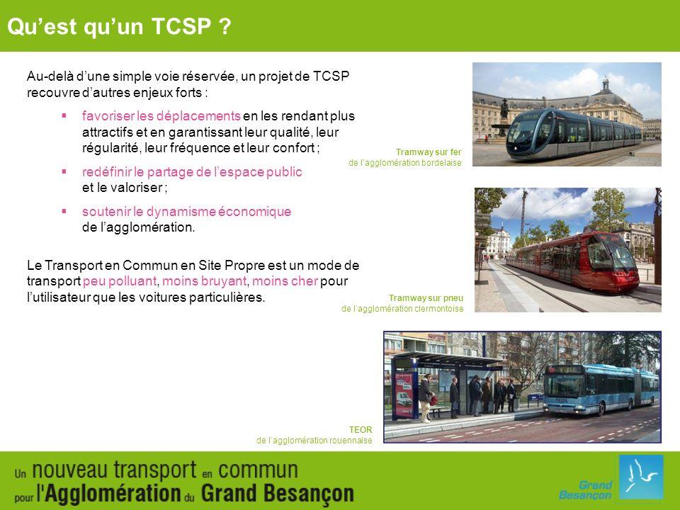 Qu'est qu'un TCSP Au-delà d'une simple voie réservée, un projet de TCSP recouvre d'autres enjeux forts :