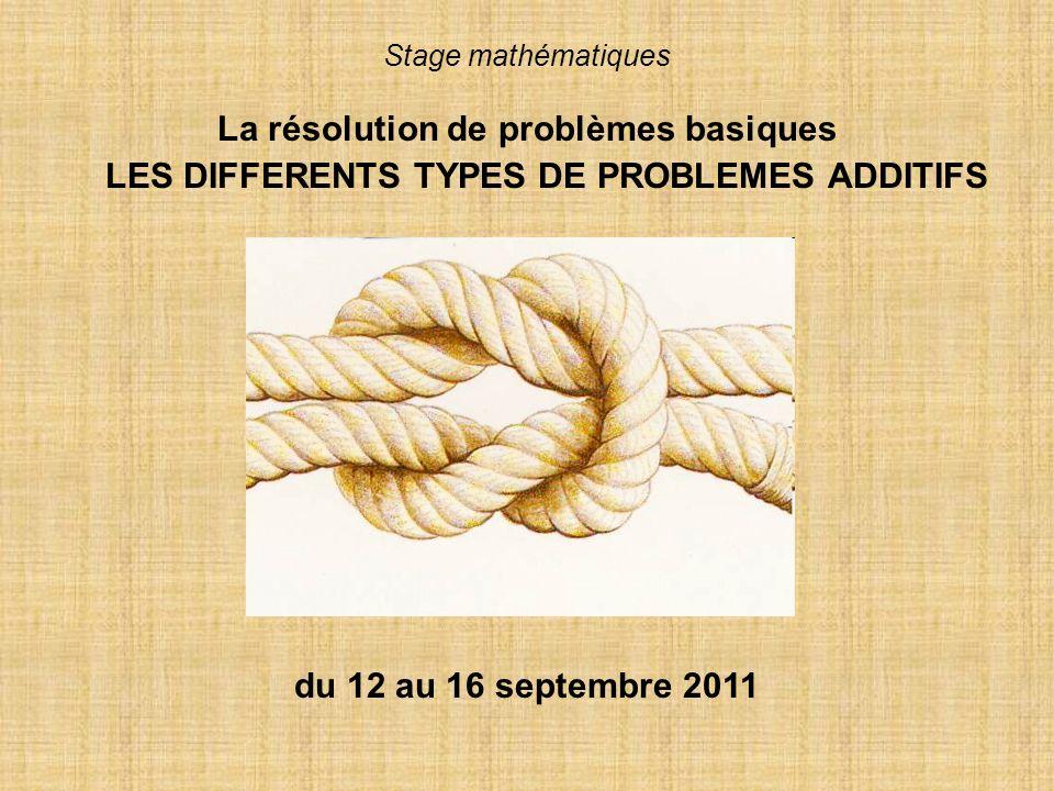 La résolution de problèmes basiques